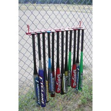 12 Bat Fence Rack